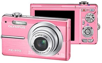 FE-370 8MP Digital Camera with Smile Shot (Pink) - REFURBISHED