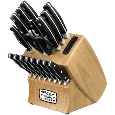 Insignia2 18-Piece Knife Block Set with In-Block Knife Sharpener - OPEN BOX