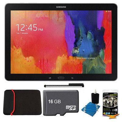 Galaxy Note Pro 12.2` Black 32GB Tablet, 16GB Card, Headphones, and Case Bundle