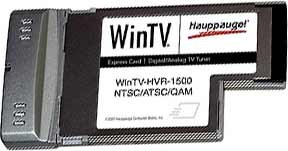 WinTV HVR-1500 Notebook Express Card HDTV Tuner/Video Recorder - OPEN BOX