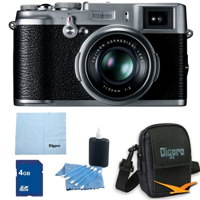 4 GB Bundle X100 12.3 MP APS-C CMOS EXR Digital Camera with 23mm Fujinon Lens