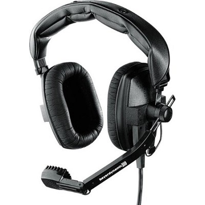 DT-109-200-50-BLACK Closed Headset with Dynamic Hypercardioid Microphone