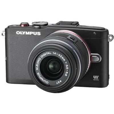 E-PL6 Mirrorless 16MP Digital Camera with 14-42mm II Lens (Black)