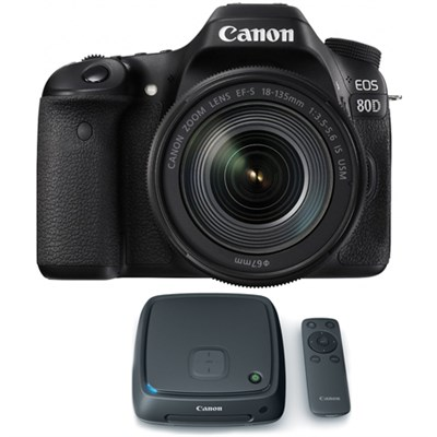 EOS 80D CMOS Digital SLR Camera w/ EF-S 18-135mm Lens + 1TB CS100 Storage Hub