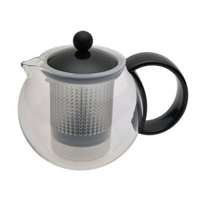 Assam 34-Ounce Glass Teapot with Stainless-Steel Filter - OPEN BOX
