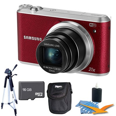 WB350 16.3MP 21x Opt Zoom Smart Camera Red 16GB Kit