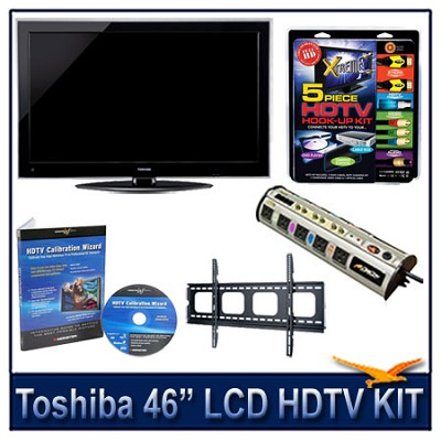 46G300U 46` 1080p LCD HDTV + Flat Mount, Hook-Up, Power Protection, Calibration