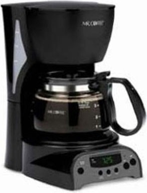 4-Cup Programmable Coffeemaker - Black