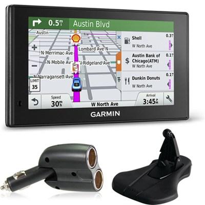 010-01538-01 DriveSmart 70LMT GPS Navigator Charger + Friction Mount Bundle