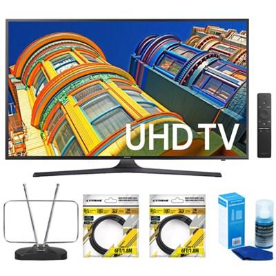 65-Inch 4K UHD HDR Smart LED TV KU6300 6-Series w/ Accessories Bundle