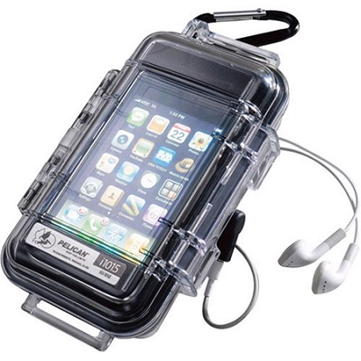 1015-015-100 - i1015 Black Water Resistant Case With Clear Lid For iPhone