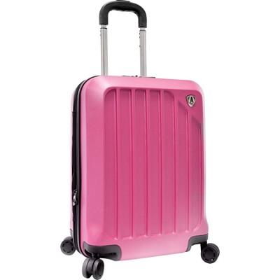 Traveler?s Choice Glacier 21` Hardshell Expandable Carry-On Luggage, Raspberry