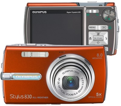 Stylus 830 Digital Camera (Orange) - OPEN BOX
