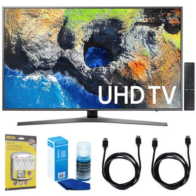 40` UHD 4K HDR LED Smart HDTV, Silver (2017 Model) w/ Accessories Bundle