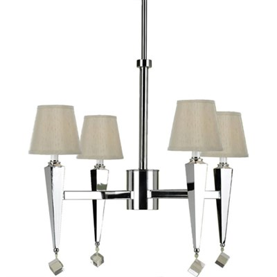 Margo 4-Light Chandelier- Cream Shades - 6680-4H