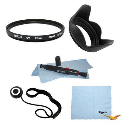 Essential 62mm UV Filter Accessory Bundle