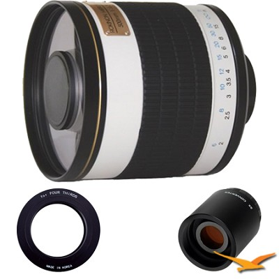 ED500M 500mm f/6.3 ED Mirror Lens for Olympus Micro 4/3 and 2x Multiplier