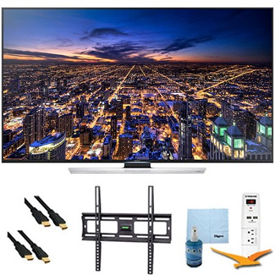 50-Inch Ultra HD 4K Smart 3D TV Wi-Fi Plus Mount & Hook-Up Bundle - UN50HU8550