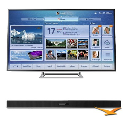 58 Inch 4K Ultra HD Ultra-Slim LED TV 3D ClearScan 240Hz Cloud TV Bundle