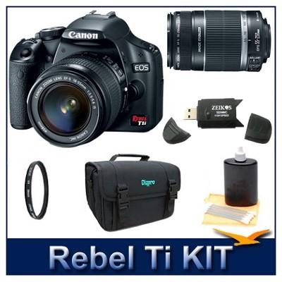 EOS Digital Rebel T1i Black w/ 18-55 & 55-250 IS Lenses