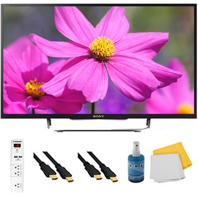 50` LED HDTV 3D Built-In WiFi Motionflow XR 480 Plus Hook-Up Bundle - KDL50W800B