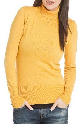 Turtleneck Sweater for Women - Color: Honey / Size: Large
