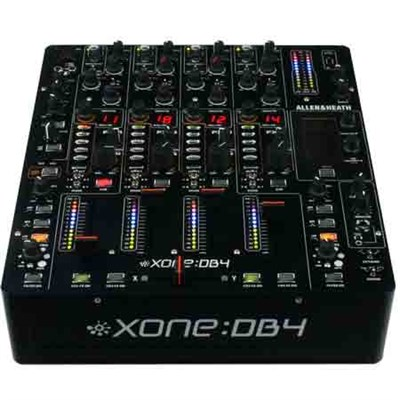 4 Channel Digital DJ Mixer With 24-bit / 96kHz Soundcard and Effects - Xone:DB4