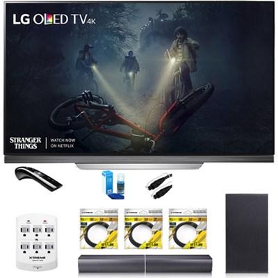 OLED65E7P - 65` E7 OLED 4K HDR Smart TV w/LGSH7B 4.1ch Wi-Fi Sound Bar Bundle