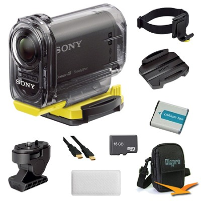 HDR-AS15/B Compact POV Wi-Fi Enabled Action Camera Anti Fog and Mount Bundle