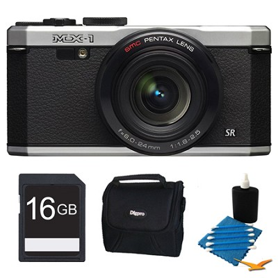 MX-1 Silver Digital Camera 16GB Bundle