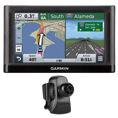 nuvi 55LM GPS Navigation System w/ Lifetime Maps 5` Display Vent Mount Bundle