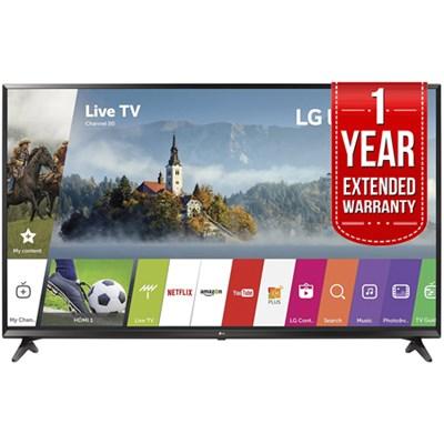 LG 55UJ6300 55` 4K UHD Smart LED TV (2017) w/ Extended Warranty Bundle