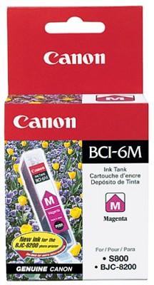 Magenta BCI-6M Removable Ink Tank f/ S9000/i9100/860/i960 Printers