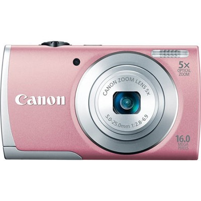PowerShot A2600 Pink 16MP Digital Camera with 5x Optical Zoom, 720p HD Video