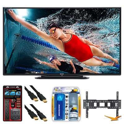 LC-80LE757U Aquos 80` 3D WiFi 240Hz 1080p LED TV Wall Mount Bundle