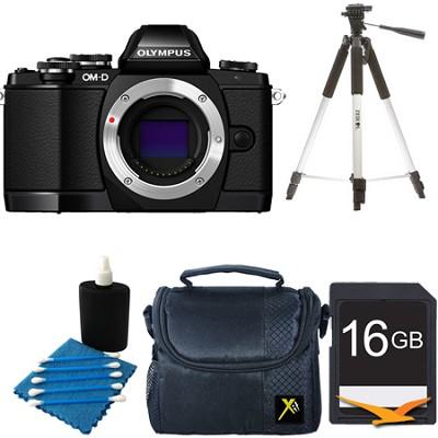 OM-D E-M10 Mirrorless Micro Four Thirds Digital Camera Body Only Black Kit