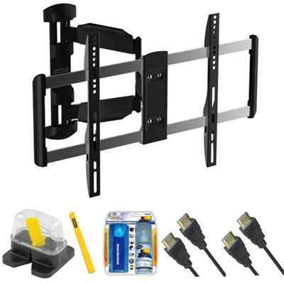 Large Full Motion TV Mount & Set Up Kit for Size 37` -70` TVs up to 36LB
