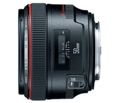 EF 50mm f / 1.2L USM with Case LP1214 and Hood ES-78 (Imported)