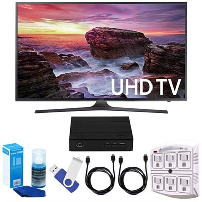 UN49MU6290FXZA 48.5` LED 4K UHD 6 Series HD TV (2017 Model) w/ TV Tuner Bundle
