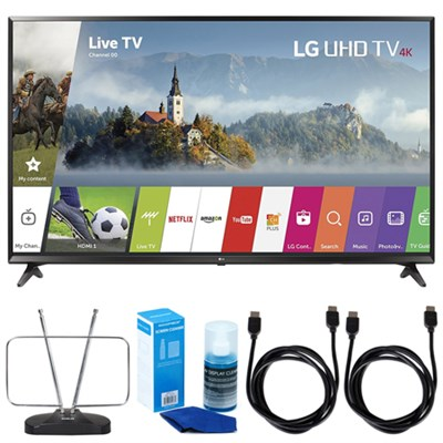 55UJ6300 55` 4K Ultra HD Smart LED TV (2017 Model) w/ TV Cut The Cord Bundle