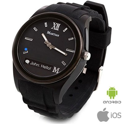 Notifier Smartwatch for Android and iOS Smartphones (Black) - OPEN BOX