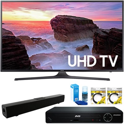 40` 4K Ultra HD Smart LED TV 2017 + HDMI DVD Player & Sound Bar Bundle