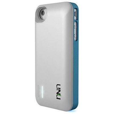 Exera Modular Detachable Battery Case for iPhone 4S 4 - Blue/White