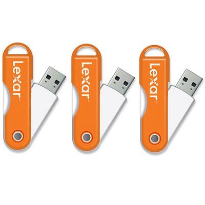 JumpDrive TwistTurn 16GB High Speed USB Flash Drive (Orange) 3-Pack (48GB Total)