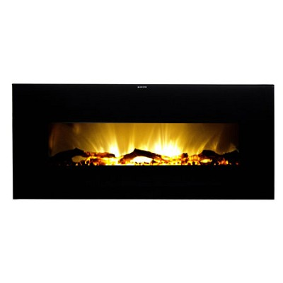 VWWF-10306 Valencia Widescreen Hanging Electric Fireplace, Remote Control, Black