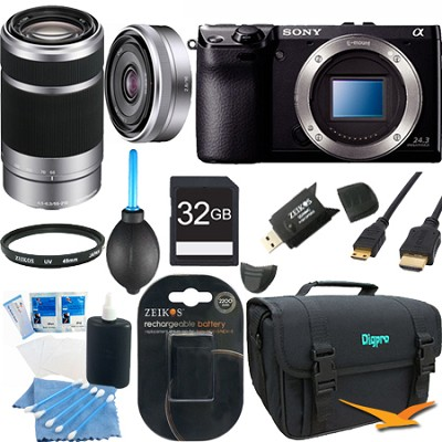 NEX7/B - NEX-7 24.3 MP Black Camera 32GB Bundle w/ 16mm & 55-210mm Lens