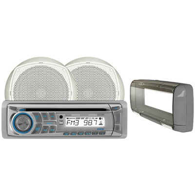 In-Dash AM/FM CD Player with Front Panel Aux Input and USB Charging Port