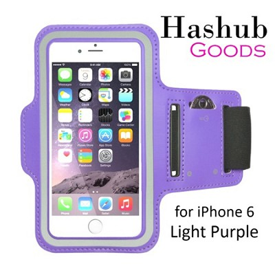 Sports Running Armband for iPhone 6/Galaxy Alpha/Sony Z3/Moto X in Light Purple