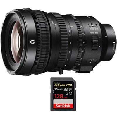 E PZ 18-110mm APS-C / Super 35mm F4 G OSS E-mount Lens w/ 128GB Memory Card