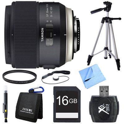 SP 35mm f/1.8 Di VC USD Lens for Nikon Mount Bundle